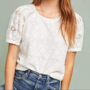 Anthropologie Sylvie Lace Top (Maeve Label)